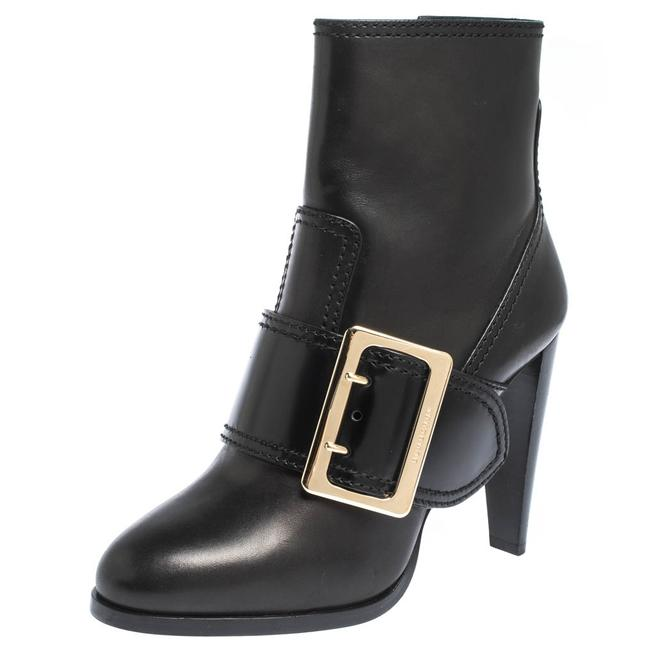 Item - Black Leather Buckle Ankle Size 39 Boots/Booties