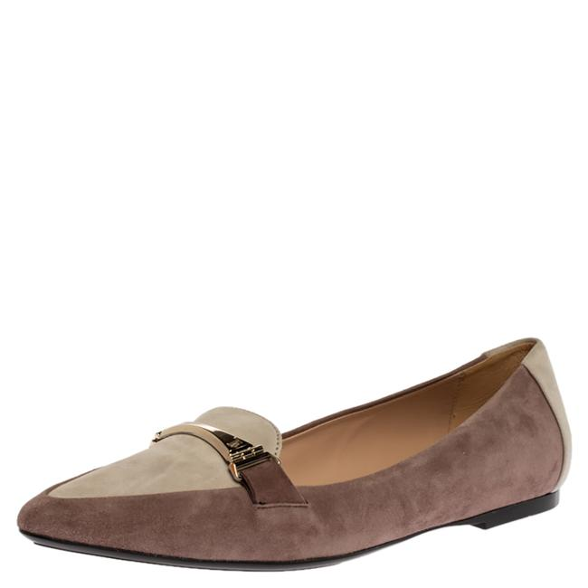 Item - Two Tone Suede Pointed Toe Ballet Size 37 Flats