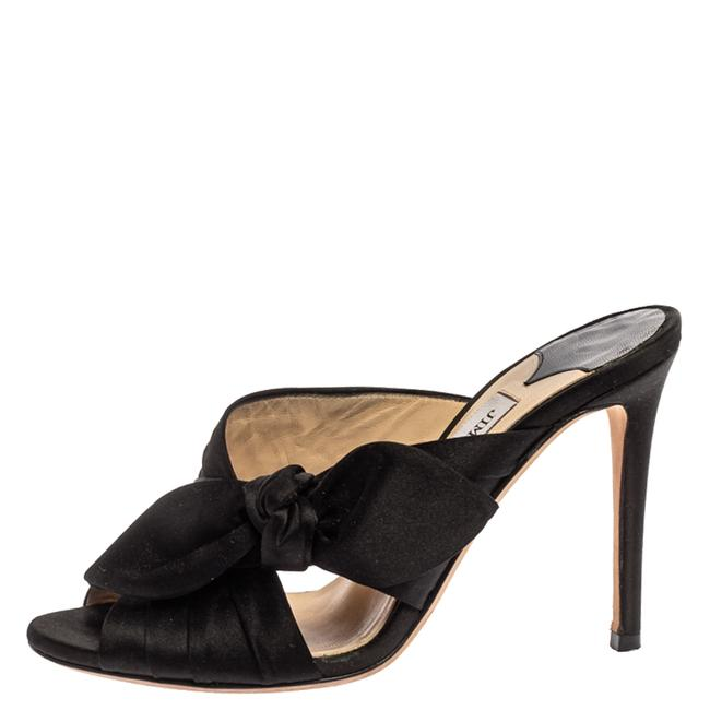 Jimmy Choo Black Satin Keely Knotted Bow Peep Size 35 Slides Jimmy Choo Black Satin Keely Knotted Bow Peep Size 35 Slides Image 2