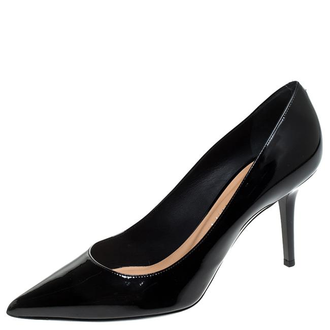 Item - Black Patent Leather Pointed Size 38 Pumps
