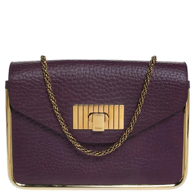 Item - Sally Purple Leather Small Shoulder Bag