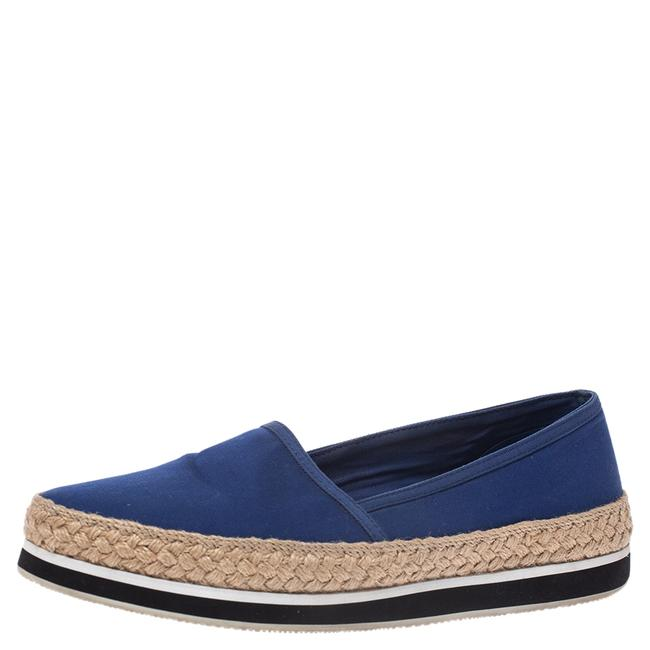 Prada Sport Blue Canvas Espadrille Size 38 Loafers Prada Sport Blue Canvas Espadrille Size 38 Loafers Image 1