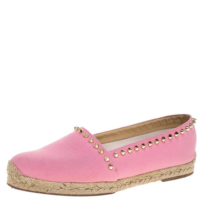 Item - Pink Canvas Ares Spiked Espadrilles Size 39 Flats