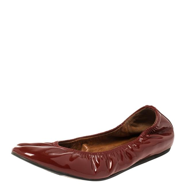 Item - Red Patent Leather Scrunch Ballet Size 38 Flats