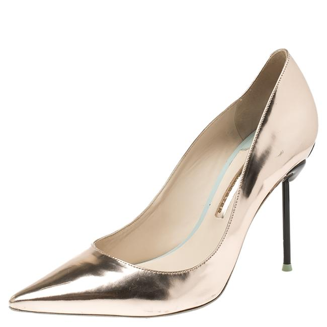 Item - Metallic Rose Gold Leather Coco Flamingo Pointed Size 40 Pumps