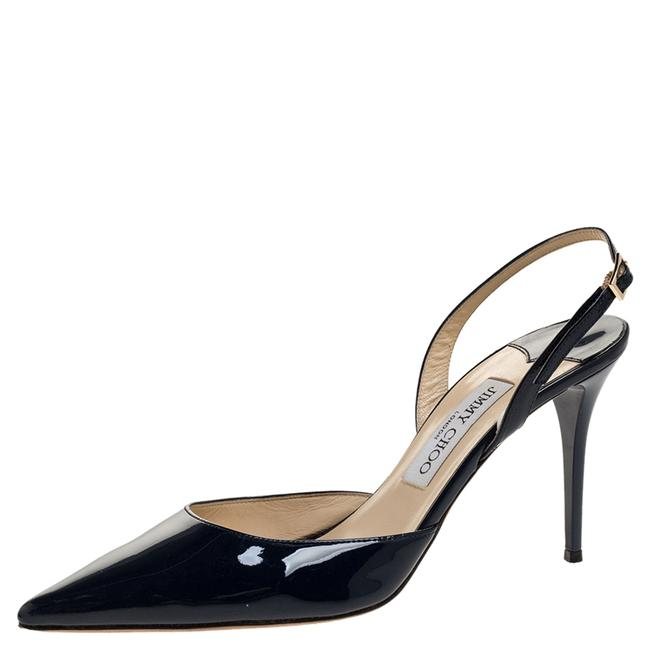 Item - Blue Patent Tilly Pointed Toe Slingback Size 40 Sandals