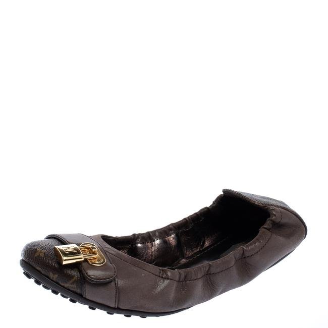 Item - Monogram Canvas and Iridescent Calf Leather Lucky Ballet Size 37.5 Flats
