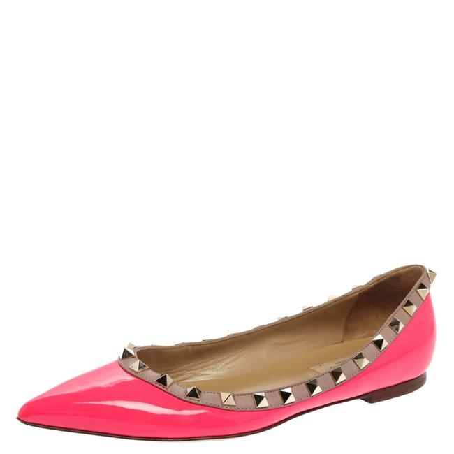 Item - Pink Patent Leather Rockstud Pointed Size 37 Flats