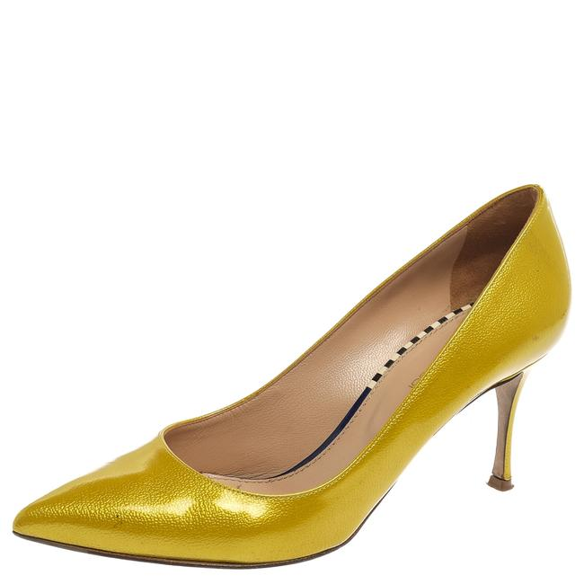Item - Yellow Patent Leather Scarpe Donna Pointed Size 38.5 Pumps