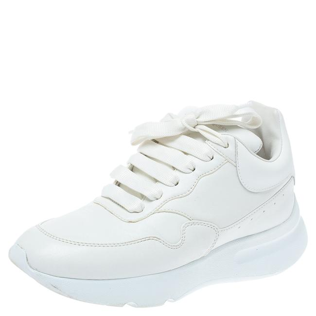 Item - White Leather Low Top Sneakers Size 36 Athletic