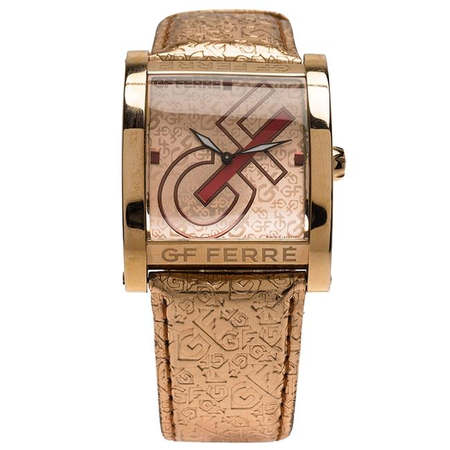 Item - Pink Gold-plated Stainless Steel 9046m Women's Wristwatch 36mm Watch