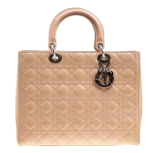 Item - Lady Light Brown Patent Leather Large Tote