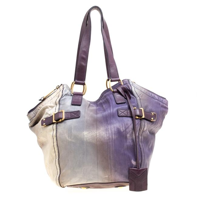 Item - Downtown Yves Multicolor Leather Small Tote