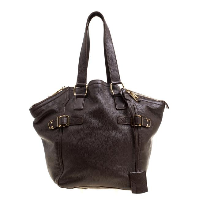 Item - Downtown Yves Brown Leather Small Tote