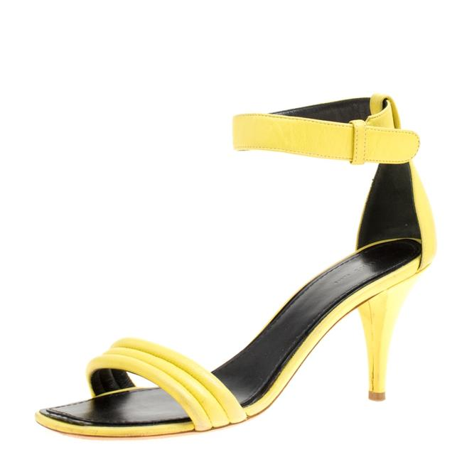 Item - Yellow Leather Ankle Strap Size 37 Sandals