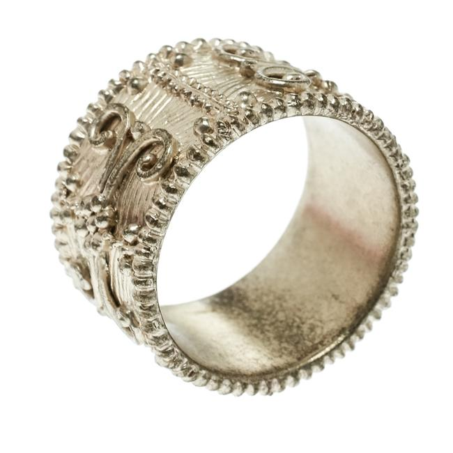 Item - Textured Gold Tone Wide Band Ring Size 61 Jewelry