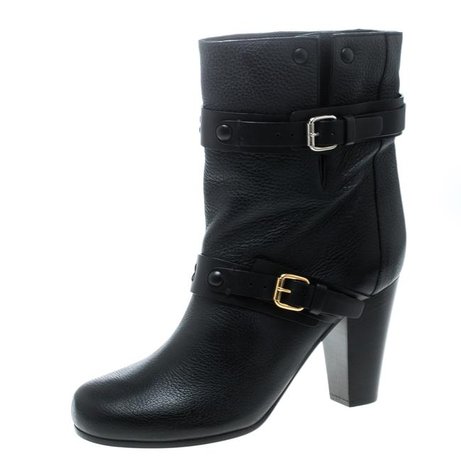 Chloé Black Leather Prince Mid Calf Size 39 Boots/Booties Chloé Black Leather Prince Mid Calf Size 39 Boots/Booties Image 1