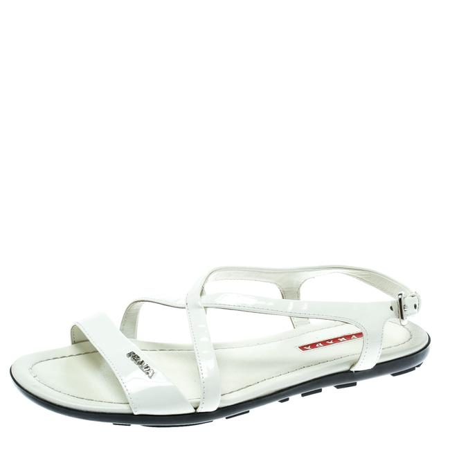 Item - White Patent Leather Flat Size 35.5 Sandals