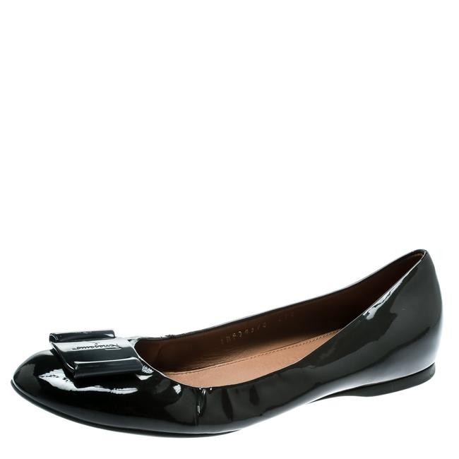 Item - Dark Grey Patent Leather Degrade Ballet Size 38.5 Flats