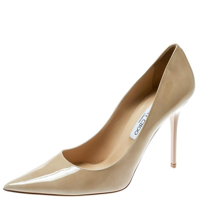 Item - Beige Patent Leather Abel Pointed Size 40.5 Pumps