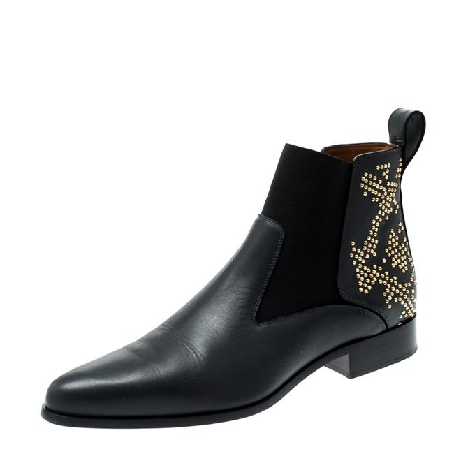 Item - Black Leather Studded Ankle Size 40 Boots/Booties
