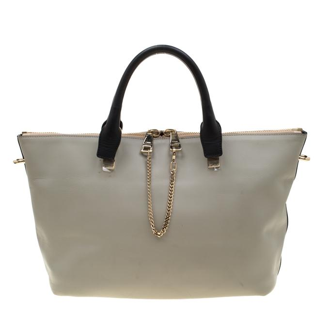 Chloé Baylee Blue/Grey Leather Medium Tote Chloé Baylee Blue/Grey Leather Medium Tote Image 1
