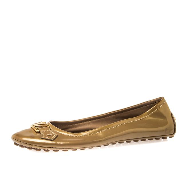 Item - Gold Patent Leather Oxford Ballet Size 40.5 Flats