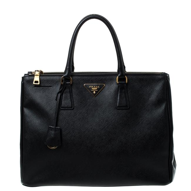 Item - Double Lux Saffiano Leather Large Zip Tote