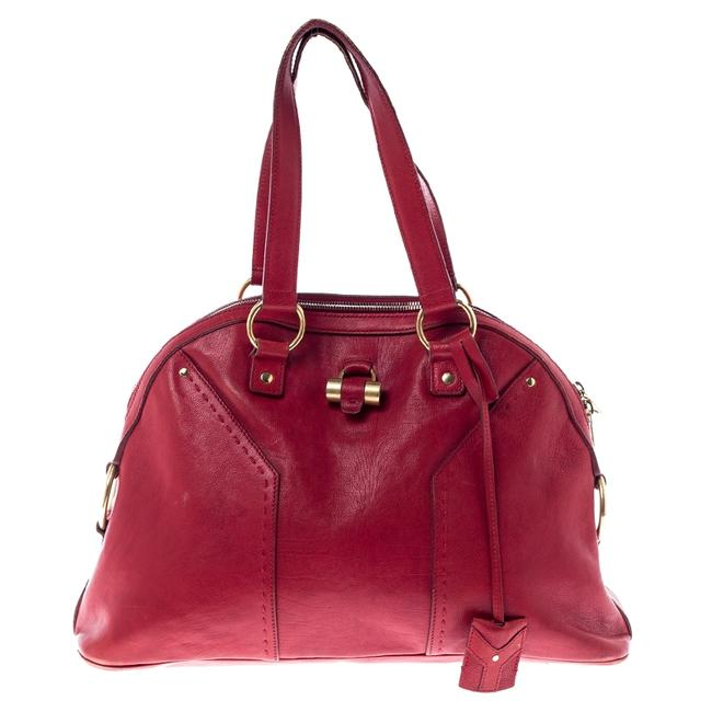 Item - Muse Yves Red Leather Medium Satchel
