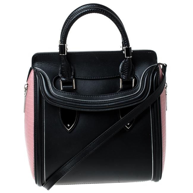 Item - Black/Pink Leather Small Heroine Satchel