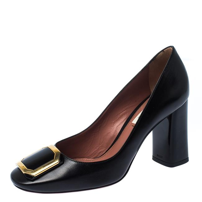 Item - Black Leather Bemmy Size 37 Pumps