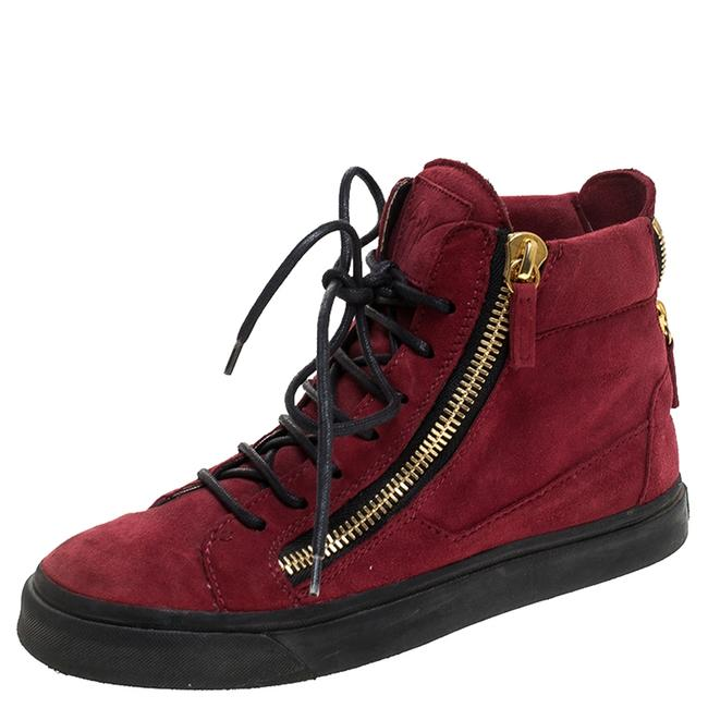 Item - Red Suede Mid Top Sneakers Size 36 Athletic