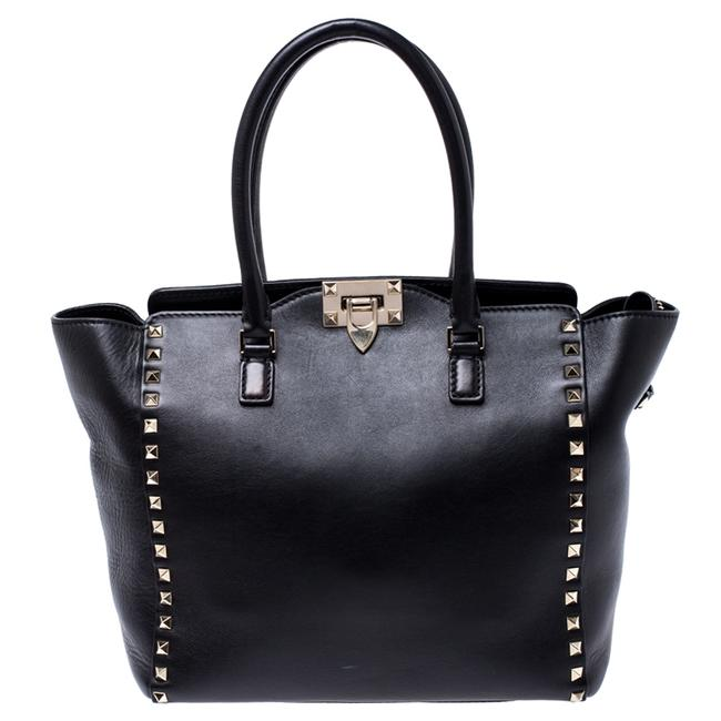 Item - Leather Small Rockstud Shopper Tote