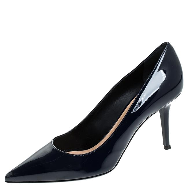 Item - Blue Patent Leather Pointed Size 38 Pumps