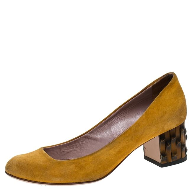 Item - Yellow Suede Dahlia Bamboo Size 36.5 Pumps