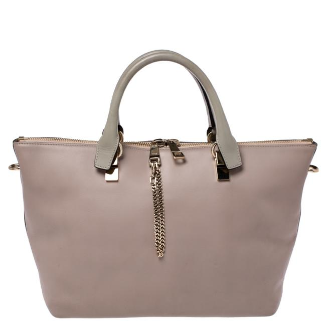 Item - Baylee Beige/Brown Leather Medium Tote