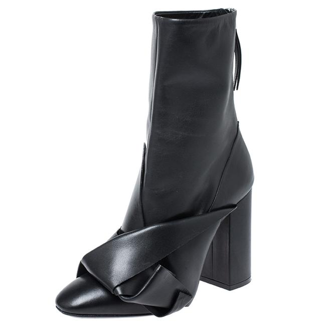 Item - N21 Black Knot Leather Mid Calf Size 38 Boots/Booties
