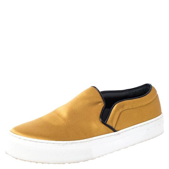 Item - Yellow Satin Slip On Sneakers Size 39 Athletic