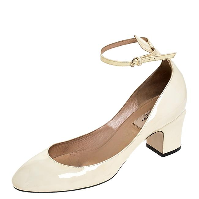 Item - Tango White Patent Leather Ankle Strap Size 39.5 Pumps
