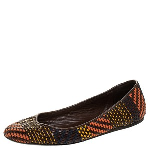 Burberry Multicolor Woven Leather Ballet Size 38.5 Flats