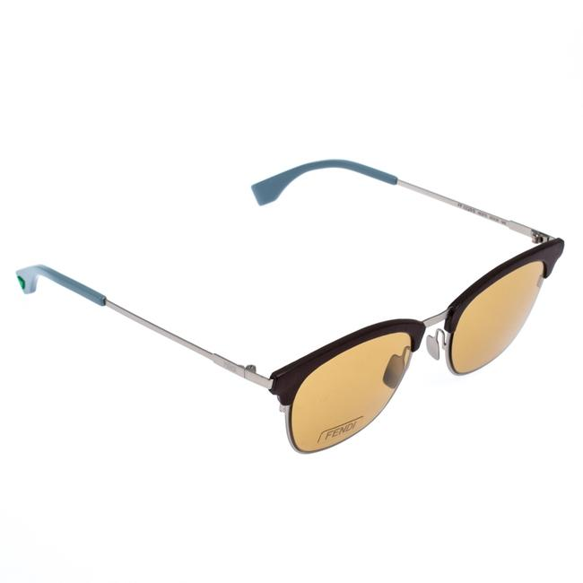 Item - Yellow/Brown and Grey Ff 0228/S Browline Sunglasses