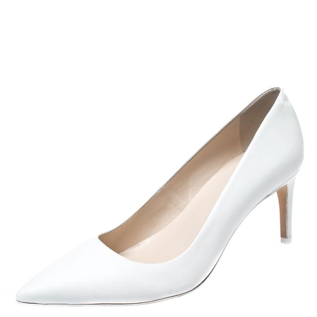 Item - White Leather Lola Pointed Size 37.5 Pumps