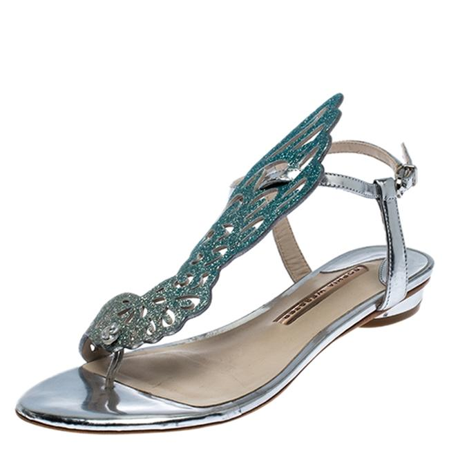 Item - Ombre Blue Glitter Leather Seraphina Angel Wing Size 36.5 Flats