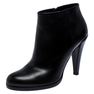Gucci Black Leather Ankle Size 38.5 Boots/Booties