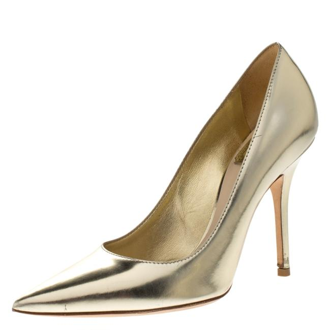 Item - Metallic Gold Leather Cherie Pointed Size 36 Pumps