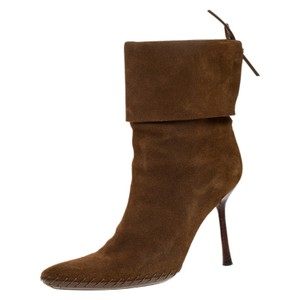 Gucci Camel Suede Leather Pointed Toe Ankle Size 39 Boots/Booties