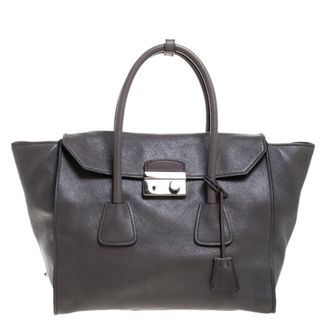 Item - Twin Pocket Marmo Glace Leather Large Tote