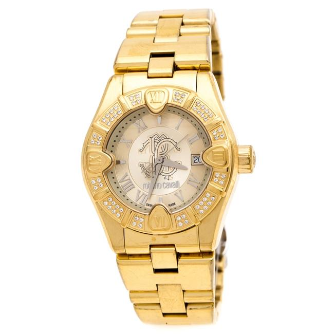 Item - Gold Plated Stainless Steel 'diamond Time' 7253116565 Women's Wristwatch 38 Mm Watch