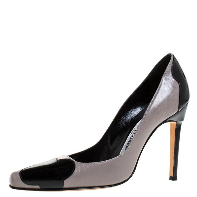 Item - Two Tone Leather and Patent Leather Adra Size 38 Pumps