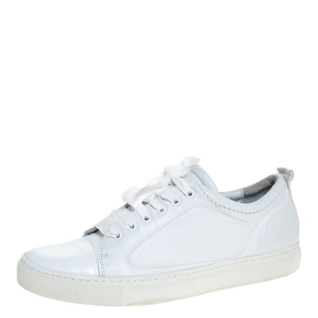 Item - Off-white Leather Lace Up Sneakers Size 39 Athletic